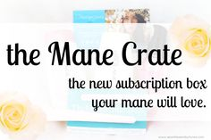 Mane Crate: The Newest Hair Care Subscription Box  ‪#‎bloggingboost‬ ‪#‎bloggingboosters‬.
