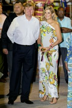 King Willem-Alexander and Queen Maxima on the 6th day of the 10 day visit to the Dutch Antillen, Curacao.