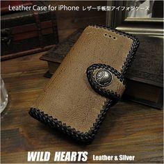 クリックポストで送料無料!傷だらけのネイキッドクードゥー革です iPhone 6,6s,7,8,X,XS/6,6s,7,8 Plus,XS Max/XR 手帳型 レザーケース アイフォン クードゥー革 チャールズ・F・ステッド社 ライトブラウン Genuine Kudu Leather Wallet Cover Flip Case for iPhone  WILD HEARTS Leather&Silver (ID ip3774) Iphone Flip Case, Iphone Cases, Wild Hearts, Leather Case, Carving, Shoulder Bag, Wallet, Silver, Handmade