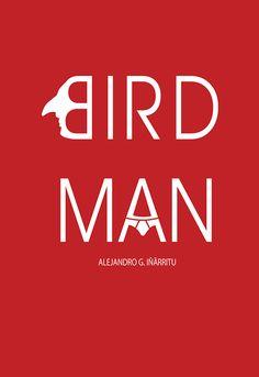 Birdman (2014) ~ Minimal Movie Poster by Zoki Cardula #amusementphile