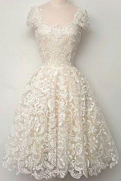 Stunning Retro inspired Openwork Lace Dress //: