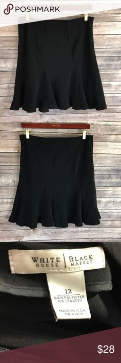 White House Black Market Skirt Womens Size 12 White House Black Market Skirt Womens Size 12 Knee Length Godet Career Business. Measurements: In inches Waist: 34 Length: 20.5 White House Black Market Skirts A-Line or Full