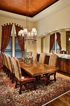 Traditional Dining Photos Old World Style Curtains Design Ideas, Pictures, Remodel, and Decor - page 11