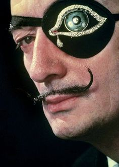 Salvador Dalí, with his own creation of a diamond eyepatch