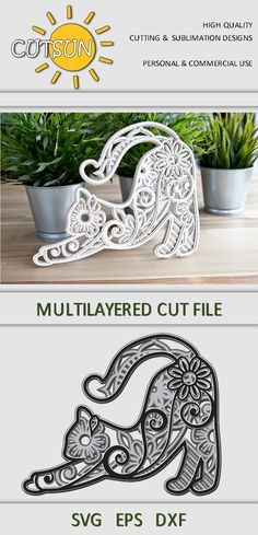 Mandala Turtle, Cat Mandala, 3d Cuts, Layered Cuts, Svg Files For Cricut, Free Svg Cut Files, Halloween Cat, Art Themes, Cat Lover Gifts