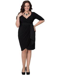 ca2c8f9da235e Harlow faux wrap dress by Kiyonna