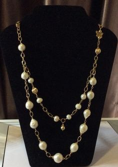A personal favourite from my Etsy shop https://www.etsy.com/listing/232881469/baroque-pearl-necklace-baroque-pearl