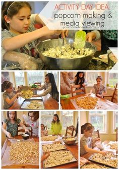 Popcorn Making & Media Viewing}Activity Day Idea - your homebased mom