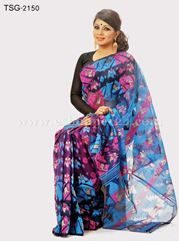 Show details for Moslin Jamdani Saree - TSG-2150