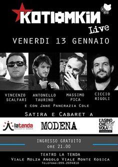 Modena: Alla Tenda una serata di satira con Kotiomkin live
