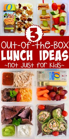 Lunch rut got you down? Try these three out of the box lunch ideas to keep you in the lunching game! Chicken Nachos Bar, Salsa Chicken Wrap, and Kabobs-a-lot lunches!