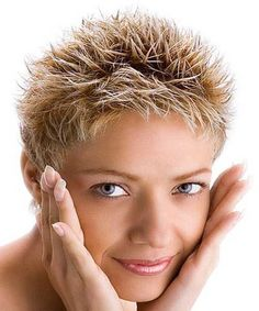 Spiky Short Elegant Hairstyles For Girls and Woman.
