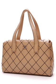 Chanel Tan Wild Stitch Tote Bag - Beige Define Fashion 32627f7491d71