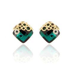 Fashion Crystal Diamond Earrings Women Accessories http://www.jollychic.com