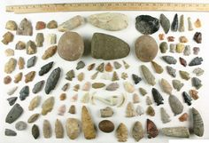 Image Detail for - COLLECTION NATIVE AMERICAN ARROWHEAD, CELT, GORGET, AXE WEST AND MID ...