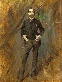 Boldini, Giovanni (1842-1931) - 1890 Portrait of the Artist John Singer Sargent (Christies New York, 2003) | Flickr - Photo Sharing!
