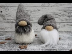 DIY Sock Christmas gnomes - easy winter decor - Mindy