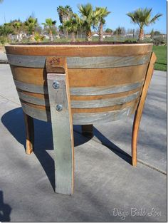 DIY Custom Wine Barrel Planter Tutorial | Design Build Love