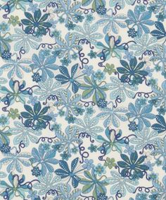 Liberty London Fabrics' Tumbling Vine print is lustrously colour-rich in soft, durable Tana Lawn cotton.