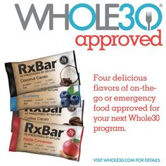 RxBar Whole 30 Approved