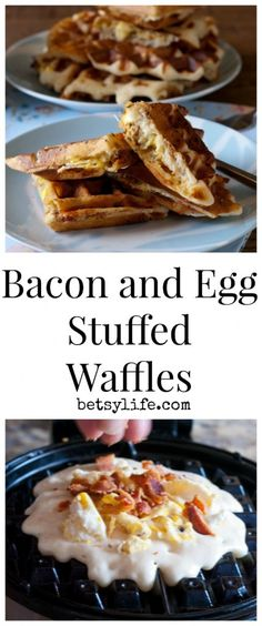Bacon and Egg Stuffed Waffle. Best breakfast recipe Ever!!