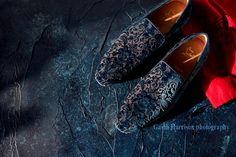 Gavin Harrison photography still life shot of Christian Louboutin loafers.