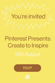 People on Pinterest are waiting for ideas from you! Join our digital event on Tuesday, 18th August to learn how to reach them. Get an inside look at Pinterest's newest features, tips on growing your audience and best practices for finding success on the platform.