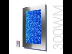 "300WM 30"" Wall Mounted Bubble Wall Indoor Fountain Video - YouTube"