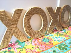 sequin letters, LOVE
