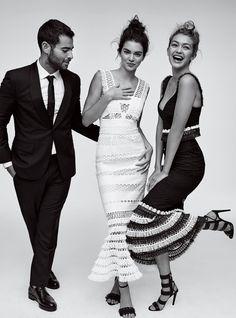 Jonathan Simkhai, Kendall Jenner, and Gigi Hadid for Vogue US, November 2015