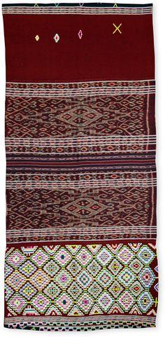 Ikat Woven Cloth Blankets West Timor Traditional Tenun Motifs