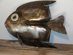 Shovel Fish Hand made from an old shovel, saw blades and a washer for the eye
