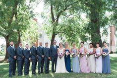 multi color bridesmaid dresses - missouri wedding photography