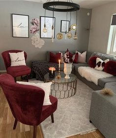 Maroon Living Room parts can add a contact of fashion and design to any residence. Maroon Living Room can imply many things to many individuals, but all of them… Burgundy Living Room, Living Room Grey, Home Living Room, Apartment Living, Grey Room, Red Living Rooms, Burgundy Bedroom, Small Living Room Furniture, Living Room Ideas Red And Grey