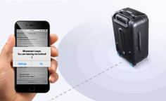 The world's first smart carry-on suitcase connects wirelessly via Bluetooth to offer location tracking and app-controlled lock/unlock.