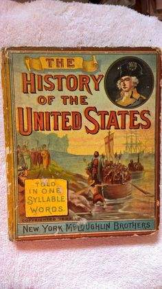 19th Century History of the United States Told in One Syllable Words  | eBay