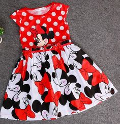 Very cute girls' dress with Minnie Mouse print. 100% purchase protection. Available in variety of sizes. Ships free from China to almost anywhere in the world. (#affiliate)