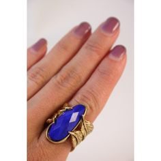 Blue Feather Ring #4thandocean #shop #online #jewelry #fashion