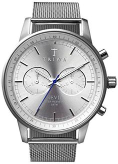 Men's Wrist Watches - Triwa Nevil Stirling Steel Chronograph Watch for Men NEST102 ME021212 -- You can find out more details at the link of the image. (This is an Amazon affiliate link)
