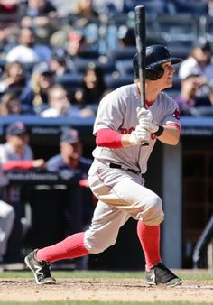 Boston Red Sox's Brock Holt hits a single during the seventh inning of a baseball game against the New York Yankees Saturday, April 11, 2015, in New York. (AP Photo/Frank Franklin II)  Boston Red Sox Team Photos - ESPN