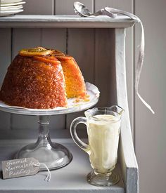 Steamed marmalade pudding with thick English custard :: Gourmet Traveller