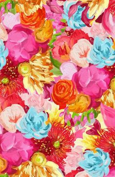Hand painted flower patterns, Ophelia Pang