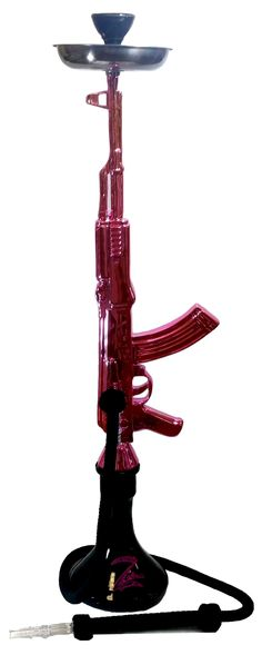 Zebra AK-47 Pink Hookah - 1 Hose