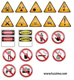 FREE VECTOR HAZARD & WARNING SIGNS. After putting up the previous post with Vector Road Signs I decided to also make some vector hazard and warning signs. The hazard ones include caution, slippery, toxic, flammable, high voltage, biohazard etc. The a warning, prohibition signs include no photography, no smoking, no phones, no drinks, no entrance etc. These vectors can be used for your personal or commercial projects.  The Danger and Caution signs have room for you to put whatever text you…