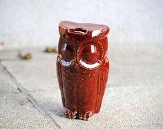 Garnet owl travel mug by claylicious on Etsy, $32.00