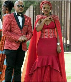 African Wedding Attire, African Attire, African Wear, African Dress, South African Wedding Dress, Couples African Outfits, Couple Outfits, African Print Fashion, African Fashion Dresses