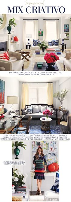 Love the white with bolder splashes of color...