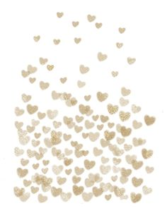 Gold Glitter Hearts - White Background for Valentines Day, Love ...