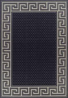 Indoor Outdoor Greek Key Design Rug Black | Wayfair Australia