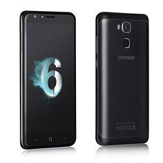 Black Friday Mobile Phones Unlocked DOOGEE Y6 4G Smartphone Dual SIM Android Smartphones SIM-Free with 2GB RAM   16GB ROM - 8MP   13MP Camera Lens 5.5 Inch HD Screen and Octa Core Processor - 3200mAh - Black Deals week 3060